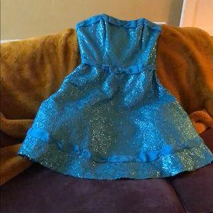 Betsey Johnson sequin strapless dress